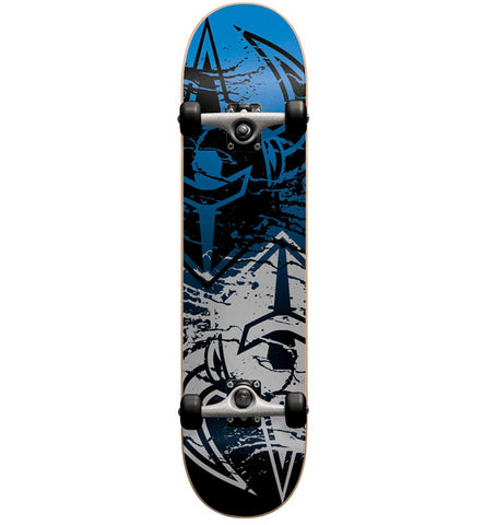 "Dark Star Drench Silver Blue 7.625"" Complete Skateboard"