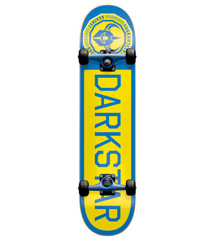 "Dark Star Timeworks Yellow Blue Complete 7.375"" Skateboard"