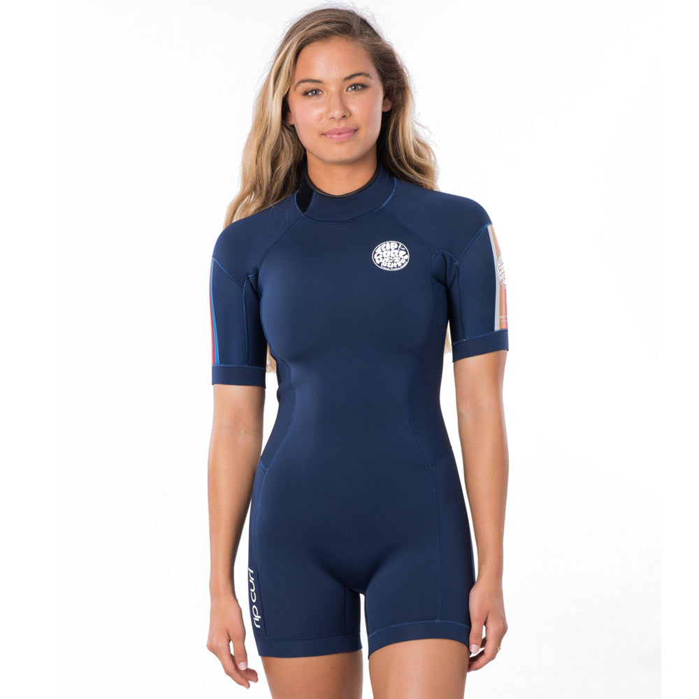 Rip Curl Womens Dawn Patrol 2mm Back Zip Shortie Wetsuit - Stripe
