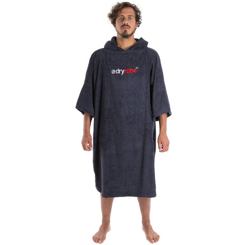 Dry Robe Short Sleeve Towel Robe Navy Medium