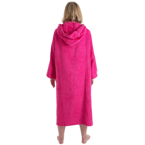 Dry Robe Short Sleeve Towel Robe Pink Large