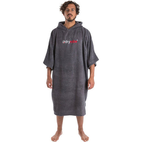 Dry Robe Short Sleeve Towel Robe Slate Grey Medium