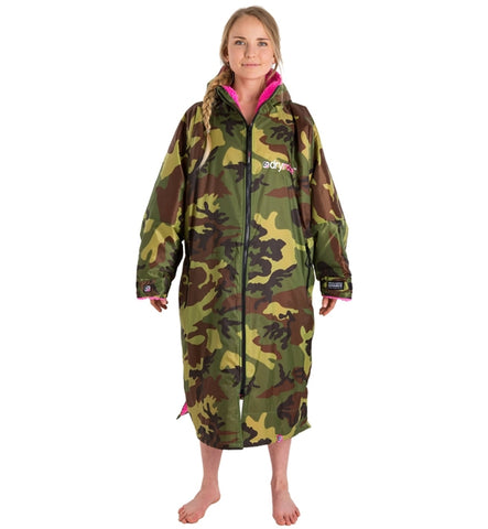 Dryrobe Advance Long Sleeve - Camo Pink Medium