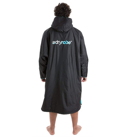 Dryrobe Advance Long Sleeve - Black Blue Medium