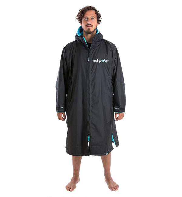 Dryrobe Advance Long Sleeve - Black Blue Large