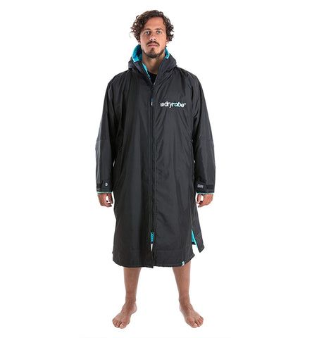 Dryrobe Advance Long Sleeve - Black Blue Small