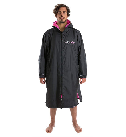 Dryrobe Advance Long Sleeve - Black Pink Medium