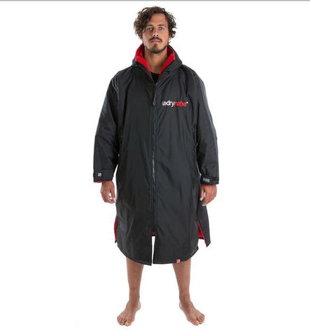 Dryrobe Advance Long Sleeve - Black Red Medium
