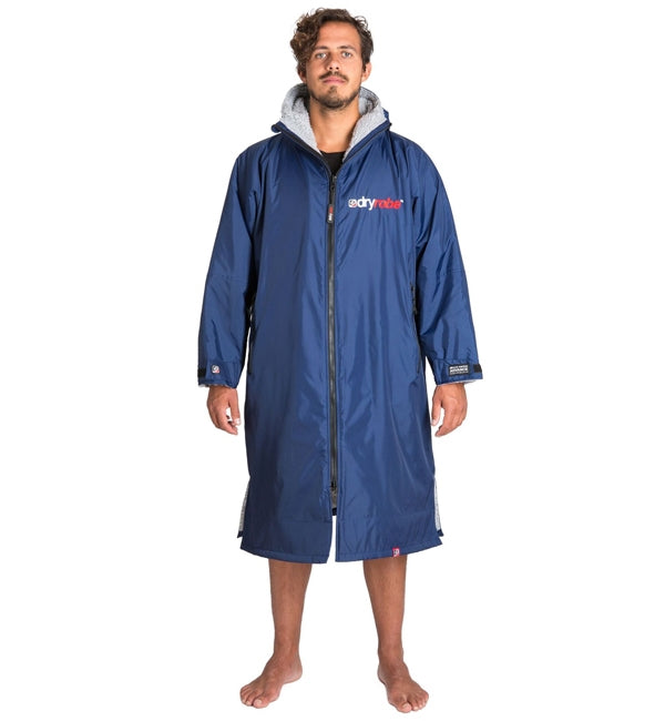 Dryrobe Advance Long Sleeve - Navy Grey Large