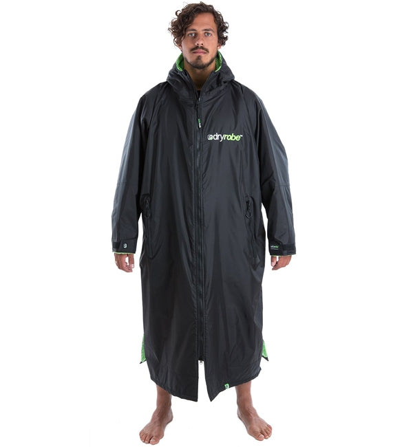 Dryrobe Advance Long Sleeve - Black Green Large