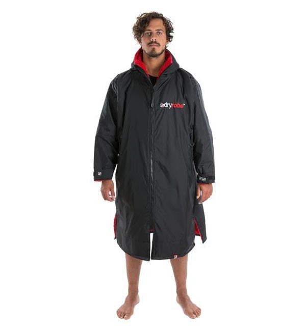 Dryrobe Advance Long Sleeve - Black Red Large