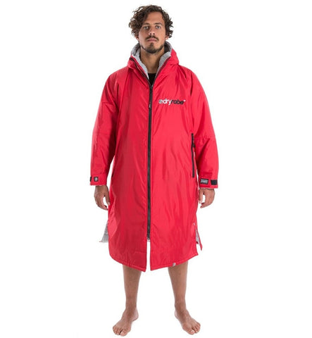 Dryrobe Advance Long Sleeve Large - Red Grey
