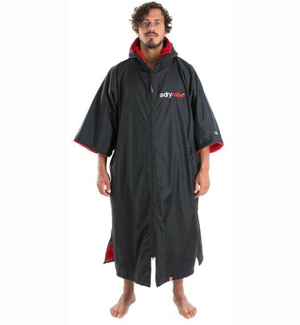 Dryrobe Advance Shortsleeve Medium - Black Red