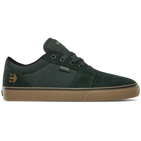 Etnies Barge LS Skate Shoes - Olive Black Gum