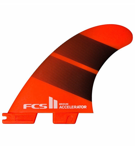 FCS 2 Accelerator Neo Glass Large Tang Gradient Tri Fins