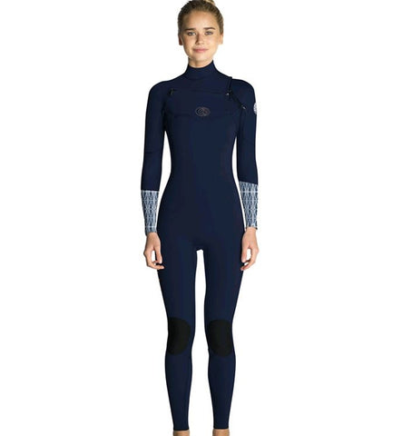 Rip Curl Womens FlashBomb 5/3 GB Chest Zip Full Wetsuit - Blue