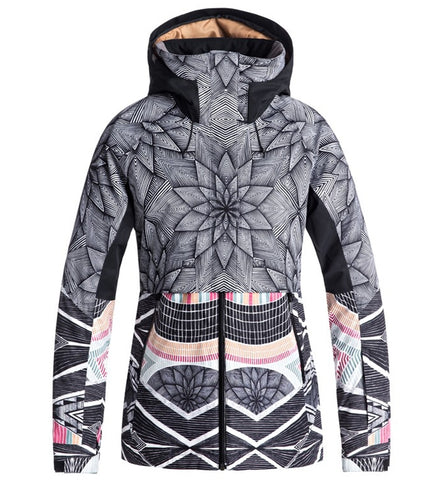 Roxy Frozen Flow Ski/Snowboard Jacket - Pop Snow Star