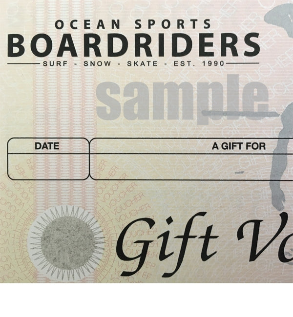 £50 Gift Voucher for Ocean Sports Boardriders Store Brighton