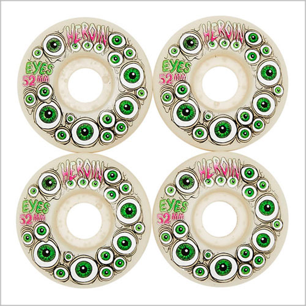 Heroin Eyes Glow in the Dark Skate Wheels