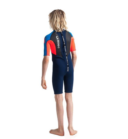 C-Skins Junior Element 3/2 Shortie - Navy Flo Red