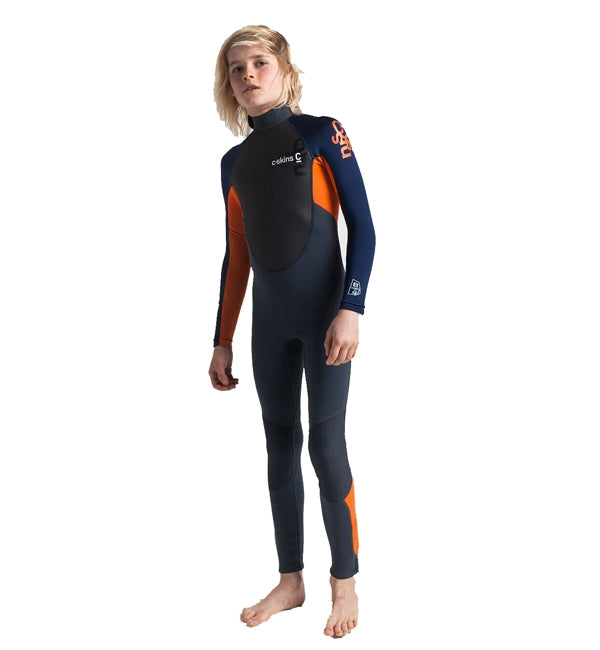 C-Skins Junior Element 3/2 Full Wetsuit - Graphite Orange