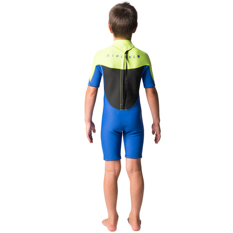 Rip Curl Junior Omega 1.5mm Back Zip Shortie Wetsuit - Lime