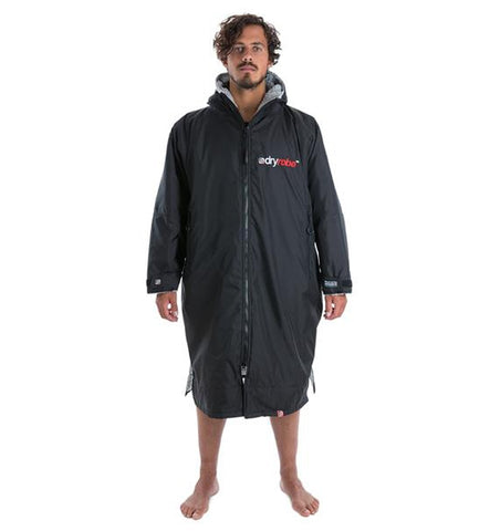 Dryrobe Advance Long Sleeve - Black Grey Medium