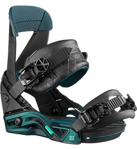Salomon Womens Mirage Snowboard Bindings - Black/Teal