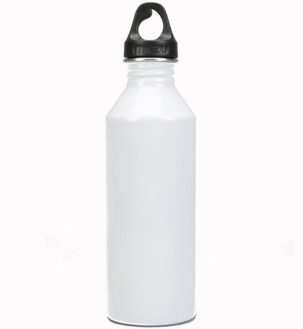 Mizu M8 Water Bottle Glossy White with Black Print