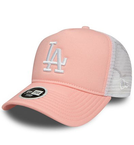 New Era Womens Pink White Los Angeles Dodgers Trucker Cap