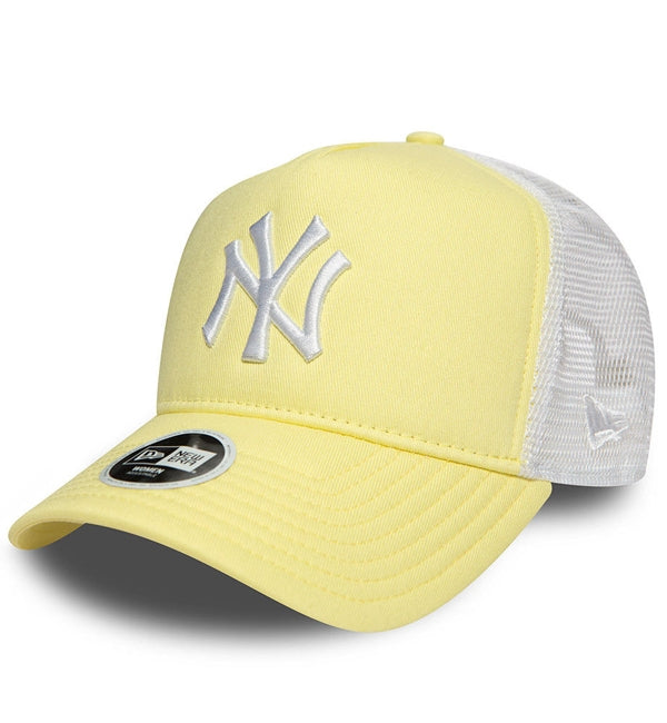 New Era Womens Yellow White New York Yankies Trucker Cap