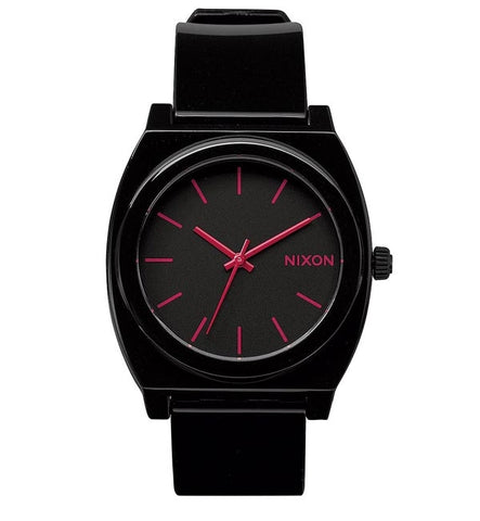 Nixon Time Teller P - Black Bright Pink