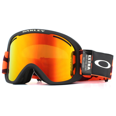 Oakley O Frame 2.0 Pro XL Snowboard/Ski Goggles- Orange With Fire