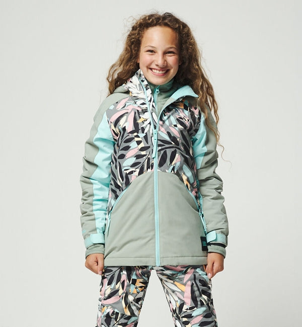 O'Neill Girls Allure Snowboard/Ski Jacket - Green AOP