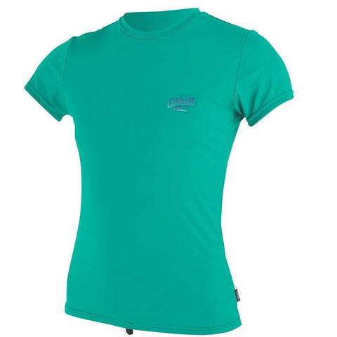 O'Neill Girls Premium Skins Short Sleeved Sun Shirt -Baltic Green