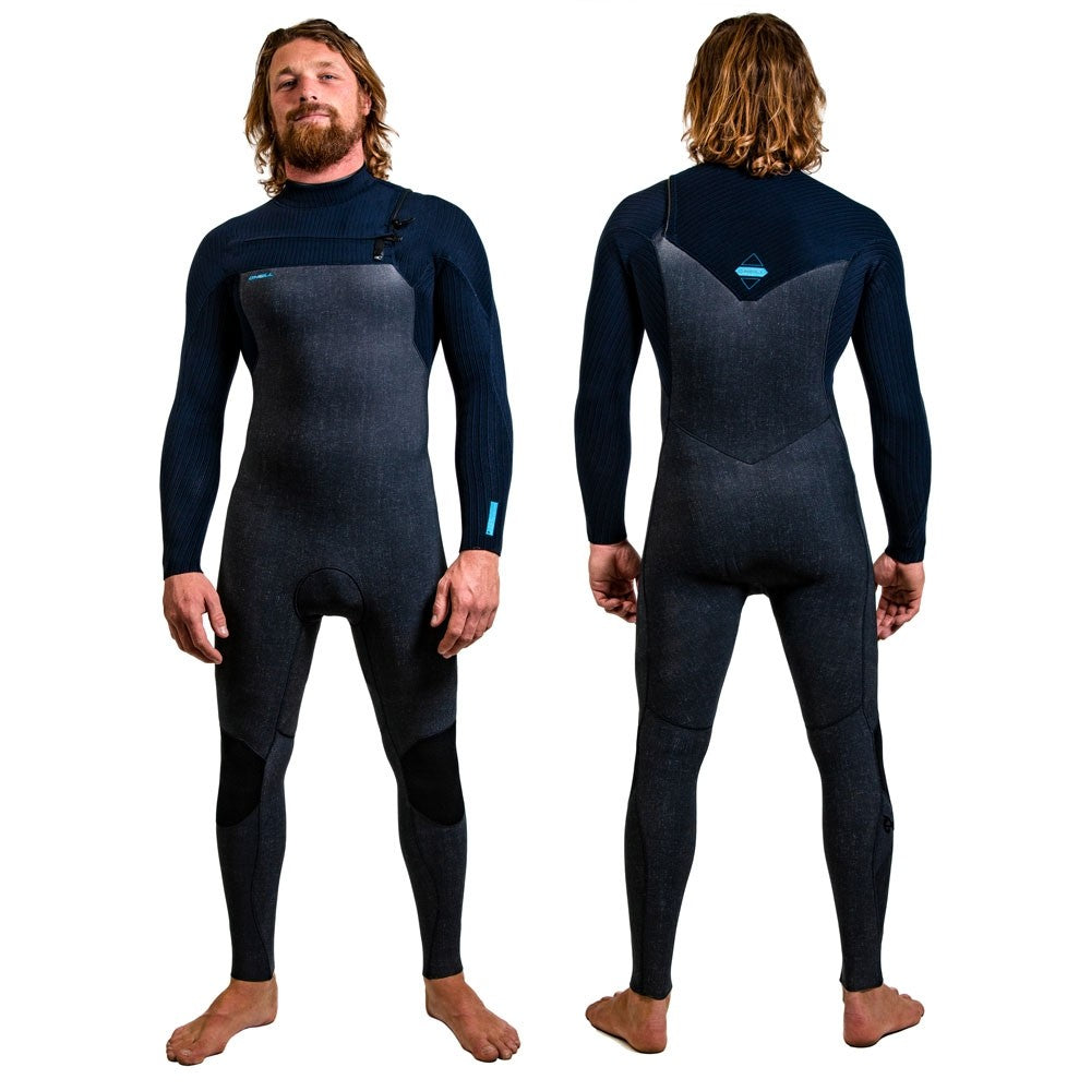 O'Neill Hyperfreak 3/2mm+ Chest Zip Full Wetsuit -Acid Wash/Abyss