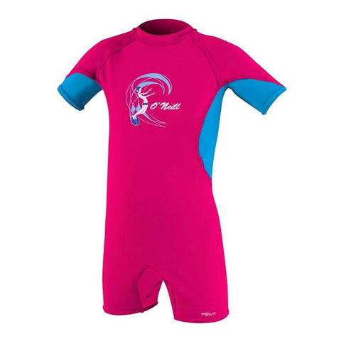 O'Neill Toddler O'Zone UV Short Sleeved Sun Suit  - Watermelon/Sky