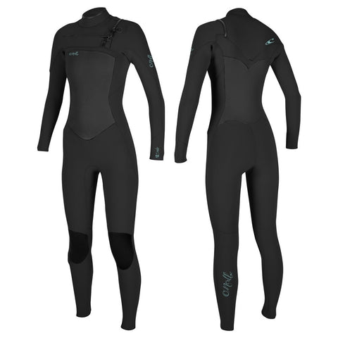O'Neill Womens Epic 3/2mm Chest Zip Full Wetsuit  - Black/Black