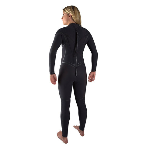 O'Neill Womens Psycho One 4/3mm BZ  Wetsuit  - Black/Black/Black