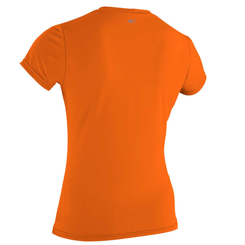 O'Neill Womens Premium Skins Short Sleeved Sun Shirt  - Papaya