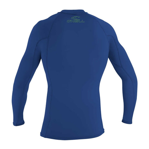 O'Neill Youth Basic Skins Long Sleeve Rash Guard  - Pacific