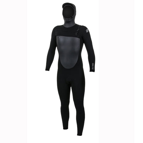 O'Neill Epic 6/5/4mm Chest Zip Full Wetsuit With Hood - Black