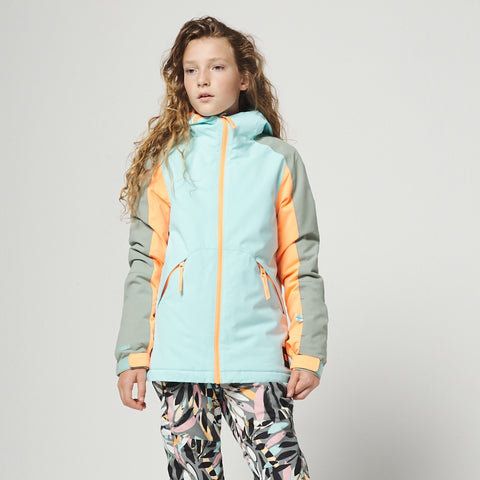 O'Neill Girls Dazzle Snowboard/Ski Jacket - Skylight