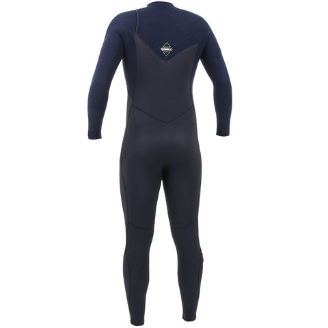 O'Neill Hyperfreak 5/4mm Chest Zip Full Wetsuit - Black/Abyss