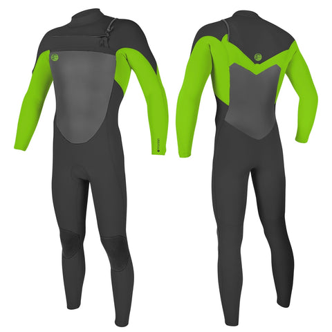 O'Neill O'Riginal 3/2mm Chest Zip Full Wetsuit - Graphite/Day Glo