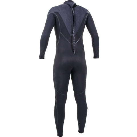 O'Neill Psycho One 5/4mm Back Zip Full Wetsuit - Black/Acid Wash