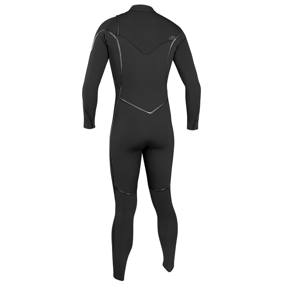 O'Neill Psycho One 5/4mm Chest Zip Full Wetsuit - Black/Acid Was