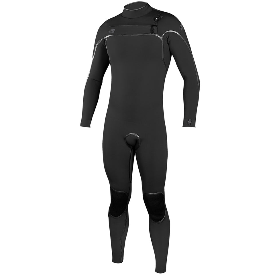 O'Neill Psycho One 5/4mm Chest Zip Full Wetsuit - Black/Acid Wash