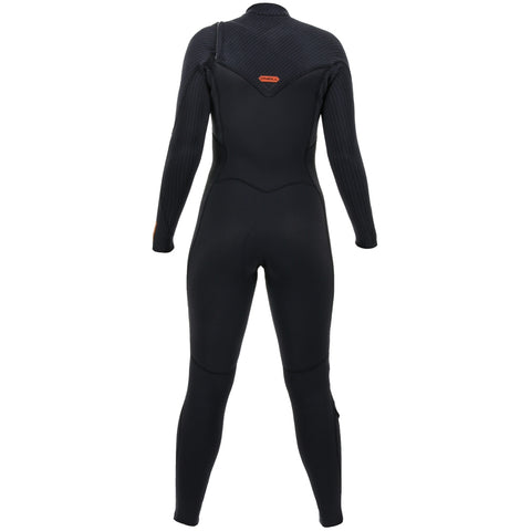 O'Neill Womens Hyperfreak 5/4mm Chest Zip Full Wetsuit - Black