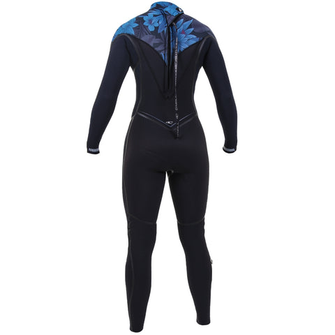 O'Neill Womens Psycho One 5/4mm Back Zip Full Wetsuit - Black/Ab